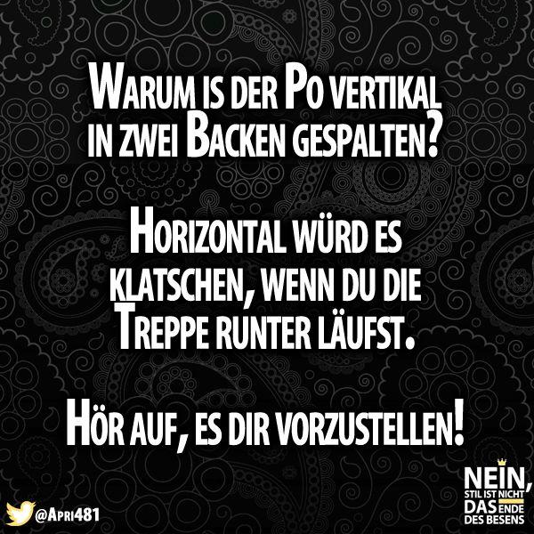 Haha bloß nicht bildlich vorstellen :D #Popo #klatschen #horizontal #vertikal #lustig #lol #besenstilvoll