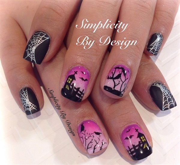 757 best nails halloween fall images on pinterest halloween day 304 happy halloween nail art prinsesfo Images