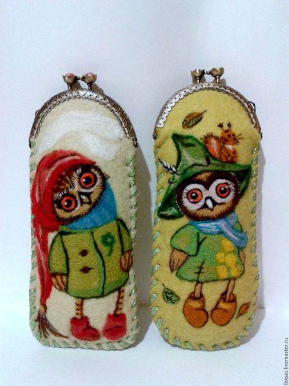 Оригинальные футляры для очков из войлока ручной работы `.Отличный подарок…