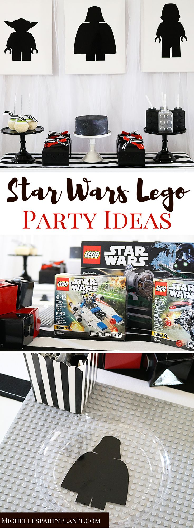 Simple party ideas for the biggest Star Wars Lego fan! Plan a fun Star Wars Lego Party with these easy ideas by Michelle's Party Plan-It.