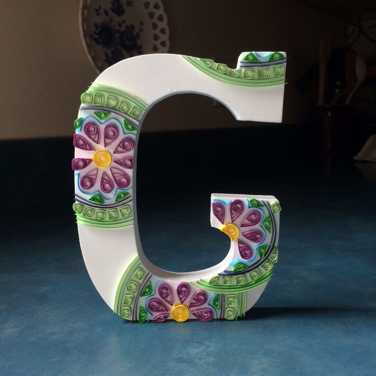 Custom Quilled Letter by QuilledCharacters on Etsy https://www.etsy.com/listing/271334263/custom-quilled-letter
