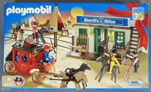 New in box and complete: Playmobil Sheriff's Office playset #4431, released 2004. $40. The Gleaner, Booth 84 at the west end of the Vancouver Flea Market, carries vintage, antique, and collectable...