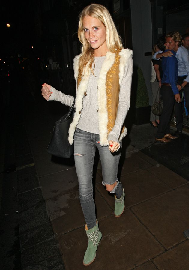 Poppy Delevingne looked effortlessly stylish in London last night [WENN]