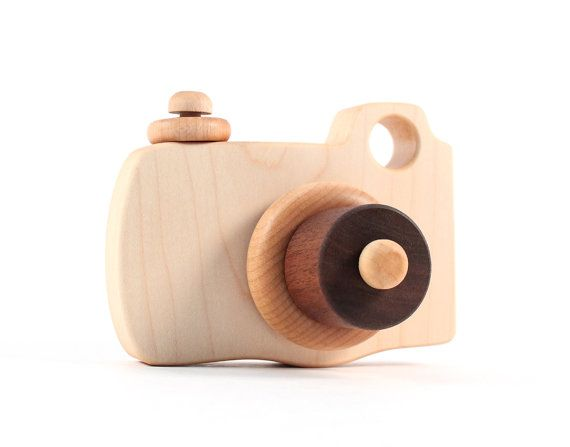 natural toy CAMERA, organic wooden imagination toy -- safe, eco-friendly wood fun, educational free play for toddler, preschool, kids