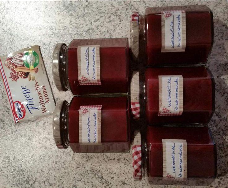 Rezept weihnachtliche Kirsch Lebkuchen Marmelade von Nicole_LM - Rezept der Kategorie Saucen/Dips/Brotaufstriche