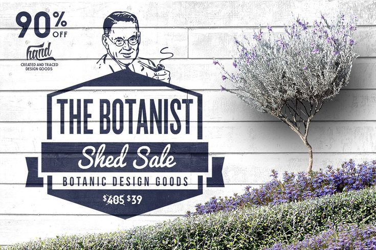 Botanic Shed Sale 90% Off by envirographic on @creativemarket