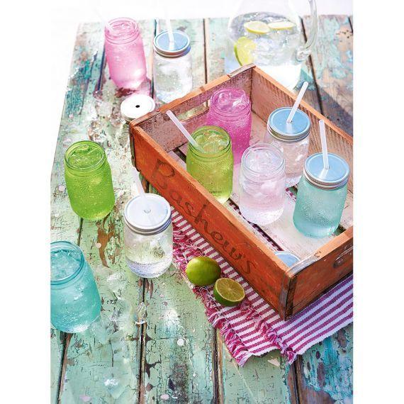 Glas-Set, 6-tlg., mit Schraubdeckel