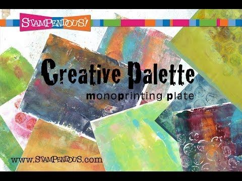 ▶ Creative Palette Introduction - YouTube - Meet #Stampendous' Creative Palette! Mixed Media art was never so easy. Durable, reusable, fast clean-up, stunning results!