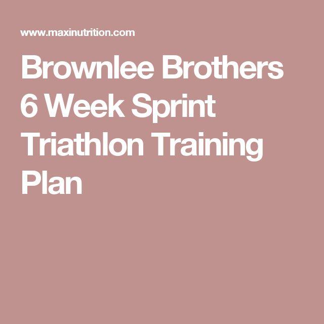 Brownlee Brothers 6 Week Sprint Triathlon Training Plan