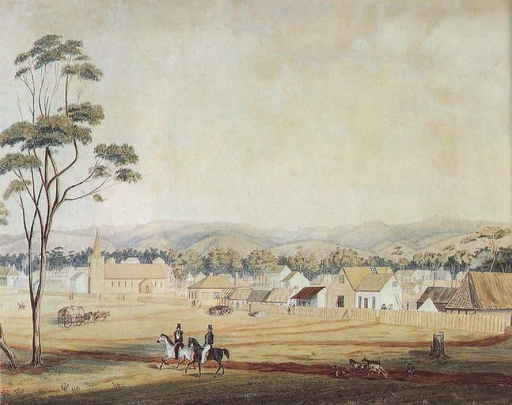 Adelaide, North Terrace, 1839, looking south-east.