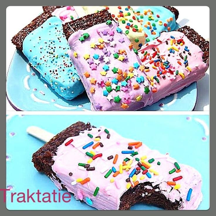 traktatie: snelle jelle koek met glazuur/ chocolade