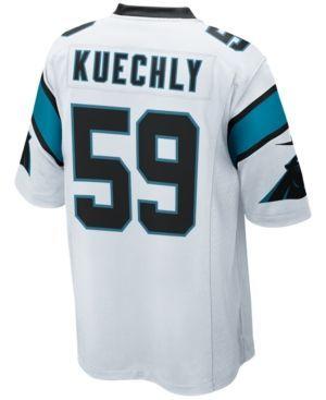 Nike Men's Luke Kuechly Carolina Panthers Game Jersey - White XXL