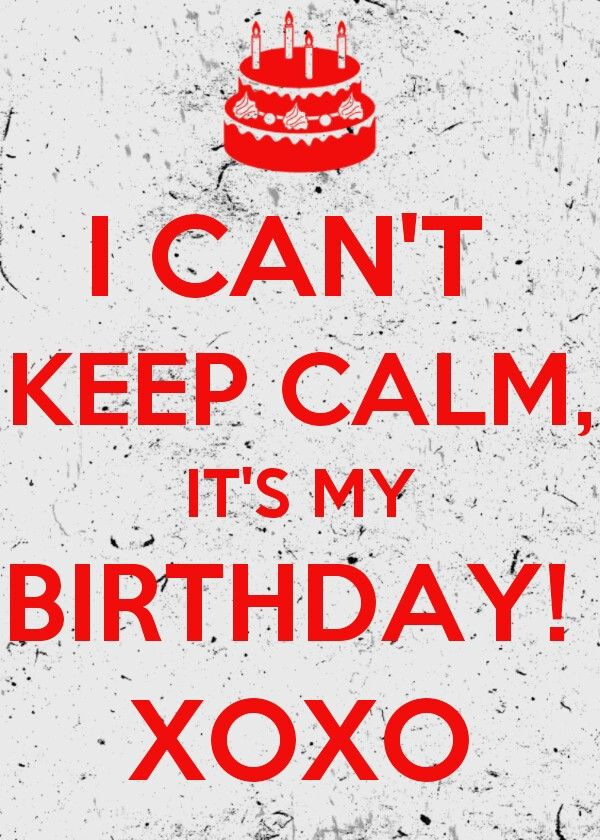 'Happy happy birthday to me, to me. Happy happy birthday to me.' Another year older. :)