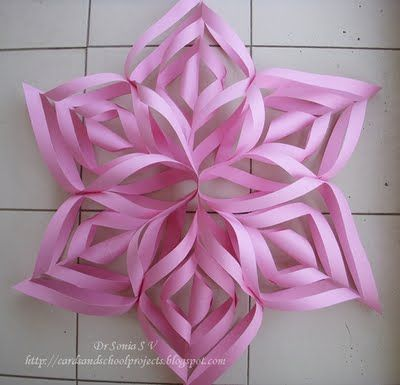 Paper stars or paper pinwheels... i love these made them last year and am doing it again this year! :)