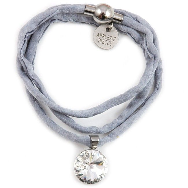 Polestar XL armband/ketting clear #swarovski #applepiepieces #crystal #silk #jewelry