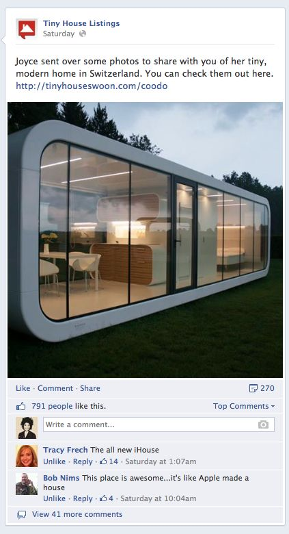 coodo featured on the Tiny House Listing's Facebook and homepage! The info is off, this coodo is actually in Solvenia, but you catch the drift. Coodo's can be taken just about anywhere :)