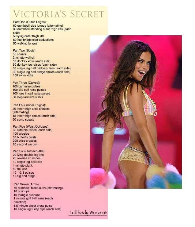 Victoria's Secret Workout-Adriana Lima