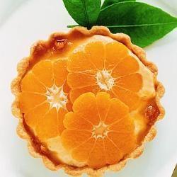 Individual mandarin tarts