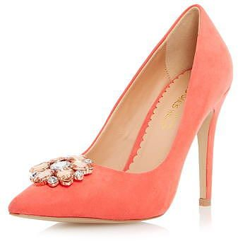 Womens coral court shoe from Dorothy Perkins - £49 at ClothingByColour.com