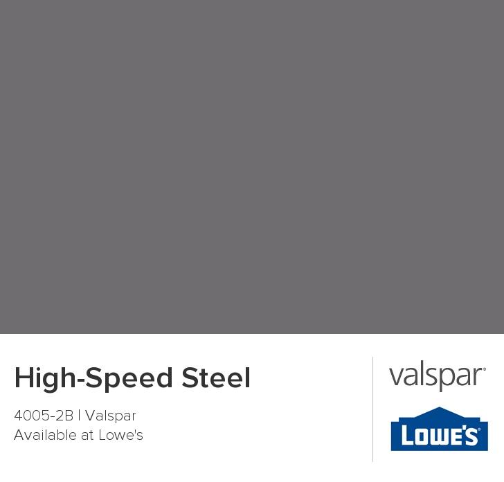Valspar Paint - Color Chip - High-Speed Steel