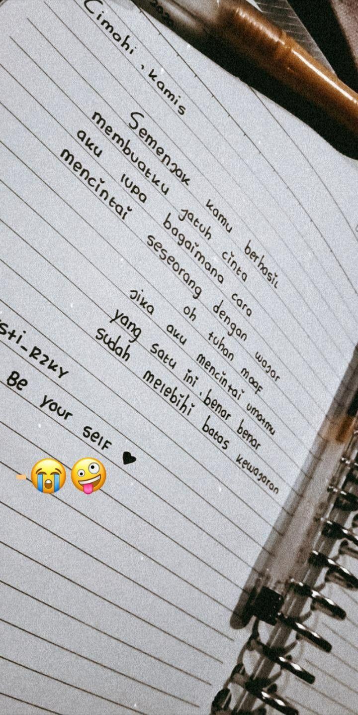 Pin oleh kay_ pjs di by me di 2020 Teks romantis, Kata