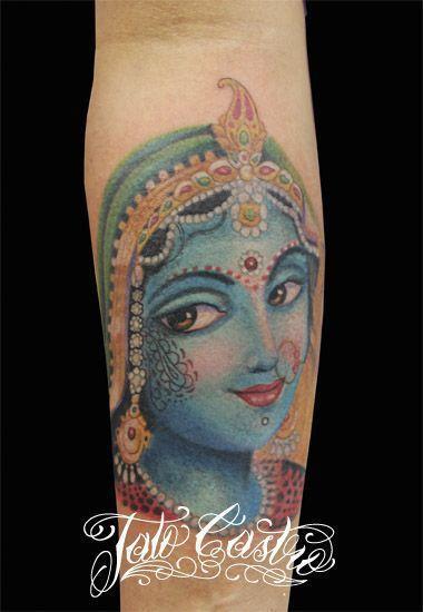 Lovely lady by Tato Castro #inked #inkedmag #tattoo #lovely #krishna #religious…