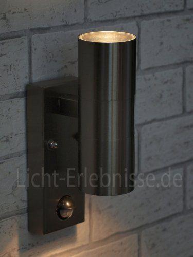 http://ift.tt/1kbNv2a Edelstahl IR Wand-Außenleuchte up & down IP44 Außenlampe mit Bewegungsmelder Alaska LE9002 @inilo#$