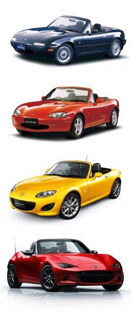Mazda MX 5 Design Evolution #StiversFordLincolnMazda http://stiversfordlm.com/