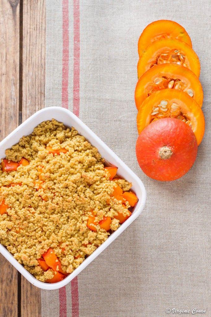 Crumble de Potimarron au quinoa  et aux épices Sans Gluten on http://chefsansgluten.com
