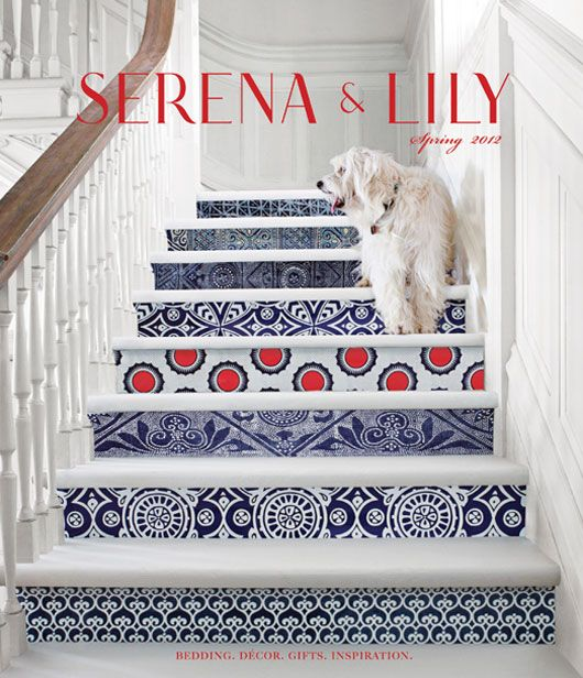 lucy's super model moment for serena & lily (and a giveaway)Decor, Ideas, Beach House, Stairs Risers, Pattern, Painting Stairs, Tile, Staircas, Design