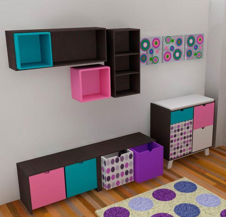 mi cuarto en Pinterest  Habitación infantil, Murales y Girls bedroom