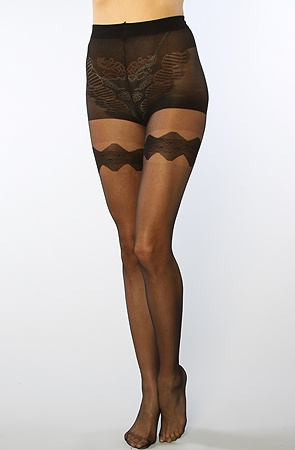 The Black Garter Belt Sheer Tight by *Intimates Boutique #MissKL #SpringtimeinParis