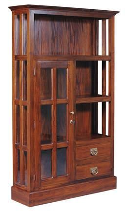 Display Cabinet Range 3 Shelf 1 Gl Door 2 Drawer Book Tek168dc 102