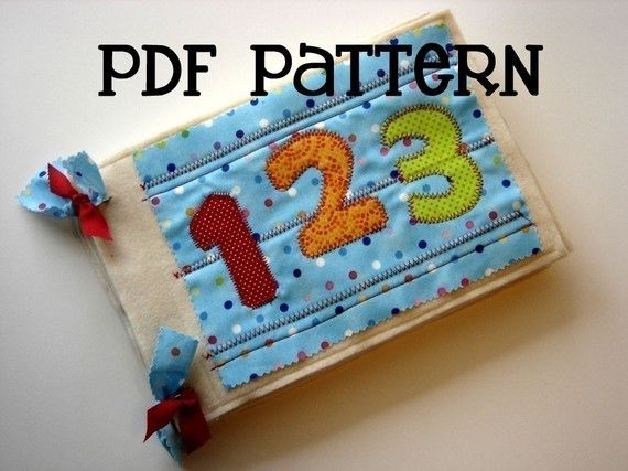 This 14 page PDF pattern includes colored pictures, diagrams, templates, and tips to help you make the 12 page Numbers Quiet Book. This is