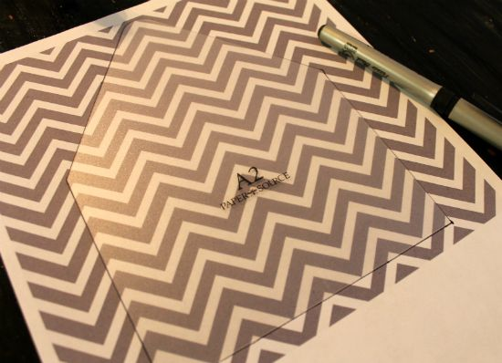 chevron liners: Liner Template, Envelope Liner, Paper Source