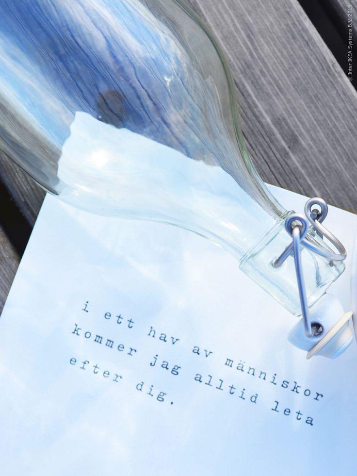 I ett hav av människor kommer jag alltid att leta efter dig. Flaskpost i KORKEN flaska. Gästbloggare: Maria Riazzoli.