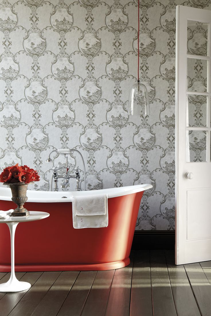 75 best salledebain bathroom images on pinterest bathroom this wallpaper was resurrected from fragments found in the the manor house on crooms hill in greenwich shown here with the georgian colour invisible green