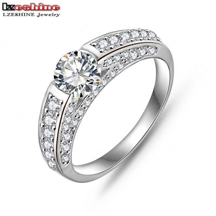 Lzeshine hot selling zilver/rose gold kleur aaa kubieke zirkoon mannen accessoires bruiloft sieraden ringen cri0026