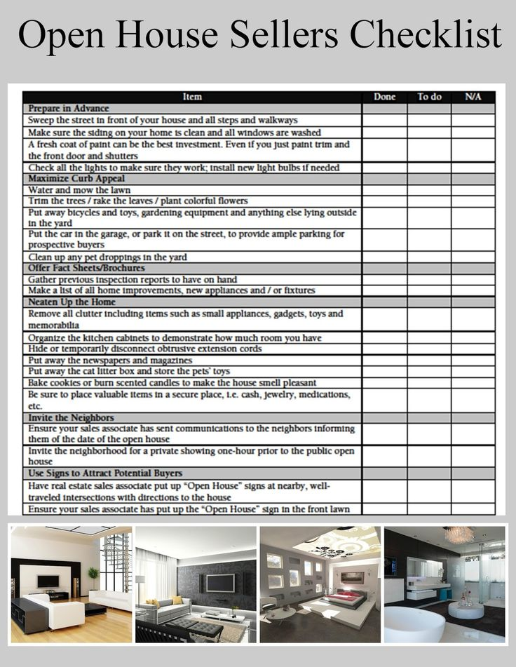 Best Checklists Images On   Real Estate Business