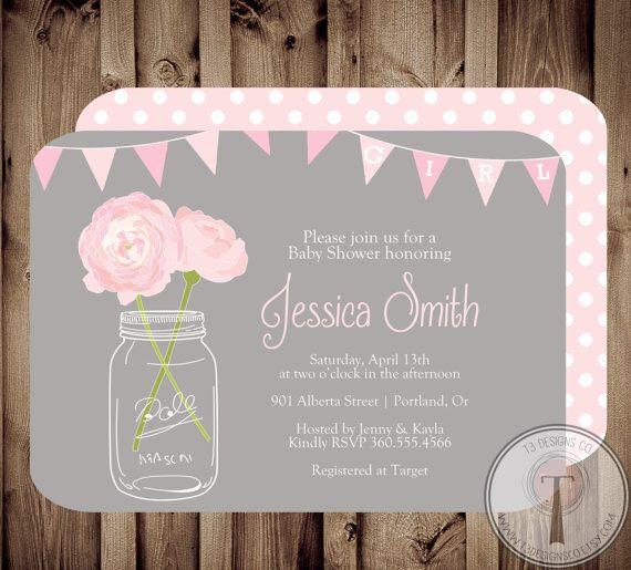 BABY GIRL Baby Shower Invitation baby shower invite by T3DesignsCo, $12.99