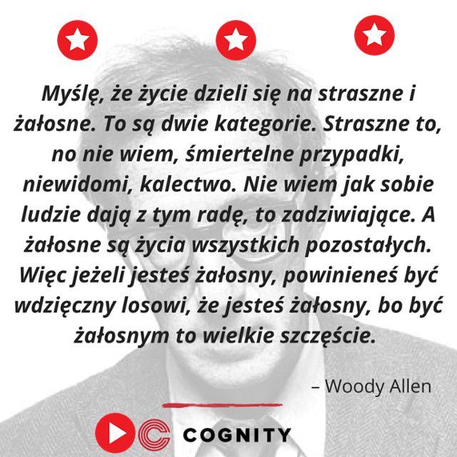 Cytat Woodego Allena Rozwijaj się razem z Cognity, zobacz czego możesz się nauczyć na: https://www.cognity.pl/strefa-wiedzy,ms,1,0.html