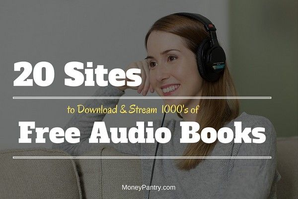 Download and stream 1000's of audio books for free online using these 20 free sites