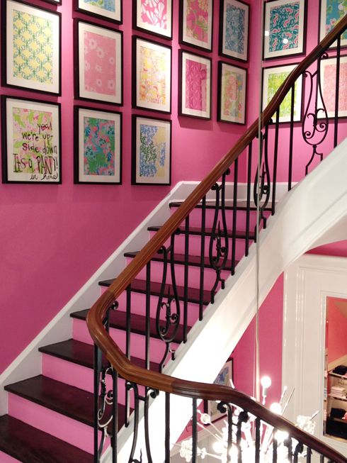 That's actually really cute, especially the stairs! And I don't even like pink!!
