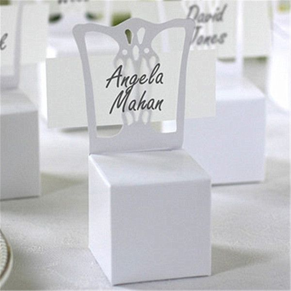Wholesale 2016 New Chair Place Card Holder And Favor Box Best For Candy Boxes Wedding Favors BoxEvent Party Supplies Dropship Buy Cheap Ribbon Gift