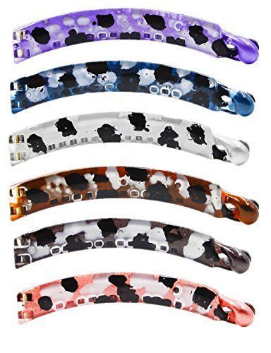 Montre pour femme : Prettyou New arrival 39 no slip Effortless Leopard patterns Crystal banana clips