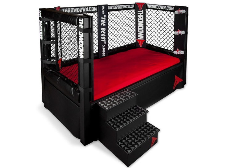 Throwdown MMA Cage Bed Sports Themed Furniture Twin, Full, Queen, King. $1,149.99, via Etsy.