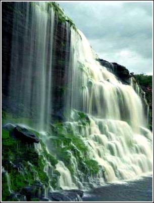 Salto El Sapo Es una caída de agua en el sur de Venezuela, que es parte de la Gran Sabana, del Edo Bolívar en la región de Guayana. Se localiza en el área protegida como el Parque Nacional Canaima, y en una desviación del río Carrao. El agua es considerable, especialmente en la época de lluvias