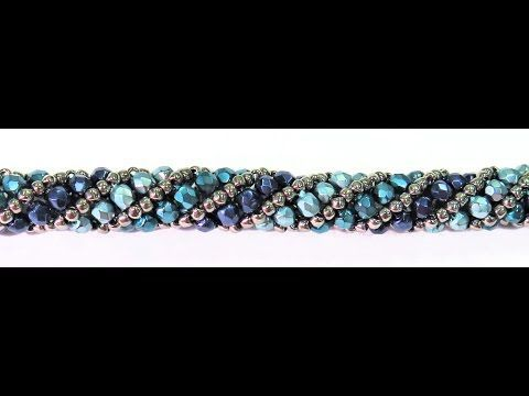 How to Do a Basic Cubic Right Angle Weave - YouTube