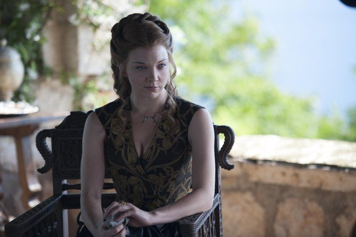 Pin for Later: Age Investigation: How Old Are the Game of Thrones Characters — and Actors? Margaery Tyrell, Played by Natalie Dormer  Age at the start of the books: 16 Dormer's age in real life: 34