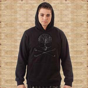 This black hooded sweatshirt has a remarkable pattern of skulls within a skull. The Dark Skull Hoodie in the Skulls and Dragons clothing range.    Made from cotton    Ref : SDSH2217911   Price : 34.99 GBP